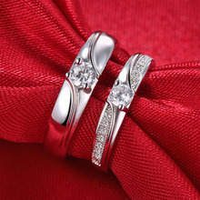 Silver plated Resizable CZ Crystal Engagement Rings Women Men Couple Wedding Fashion jewelry Gift flower Classic Bijoux Ring luxury heart gold wedding ring set cz pave crystal rings for women fashion jewelry couple love ring men engagement gift o3m039
