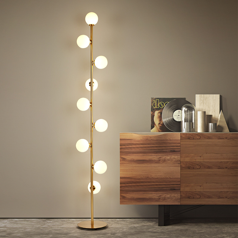 9 bulbs Frosted Glass Standing Floor Lamp