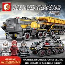 を千房けん輔テクニック市キャリア車両トラック放浪地球車宇宙飛行士のおもちゃの建物はレンガ市互換性子供のおもちゃ