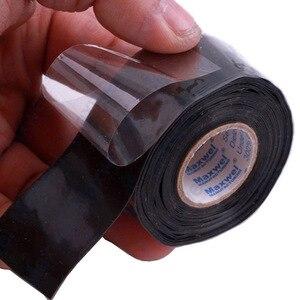 Image 2 - 1 個の有用なツール防水シリコーンパフォーマンス修理テープ接着救助自己融着ホース黒ガーデン水道管コネクタ