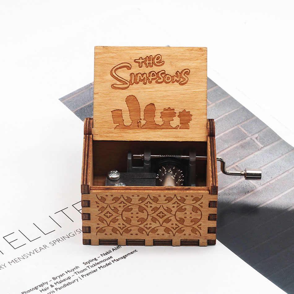 Nueva moda juego de trono de bola de dragón rojo caja de música de regalo de madera Star Wars Kaya música Museo recuerdo de la fiesta regalo