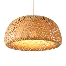 Nordic подвесной светильник деревянный кулон плетения бамбуковая
