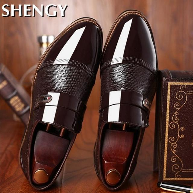 Genuiner Leather Embossing Classic Business Shoes 2