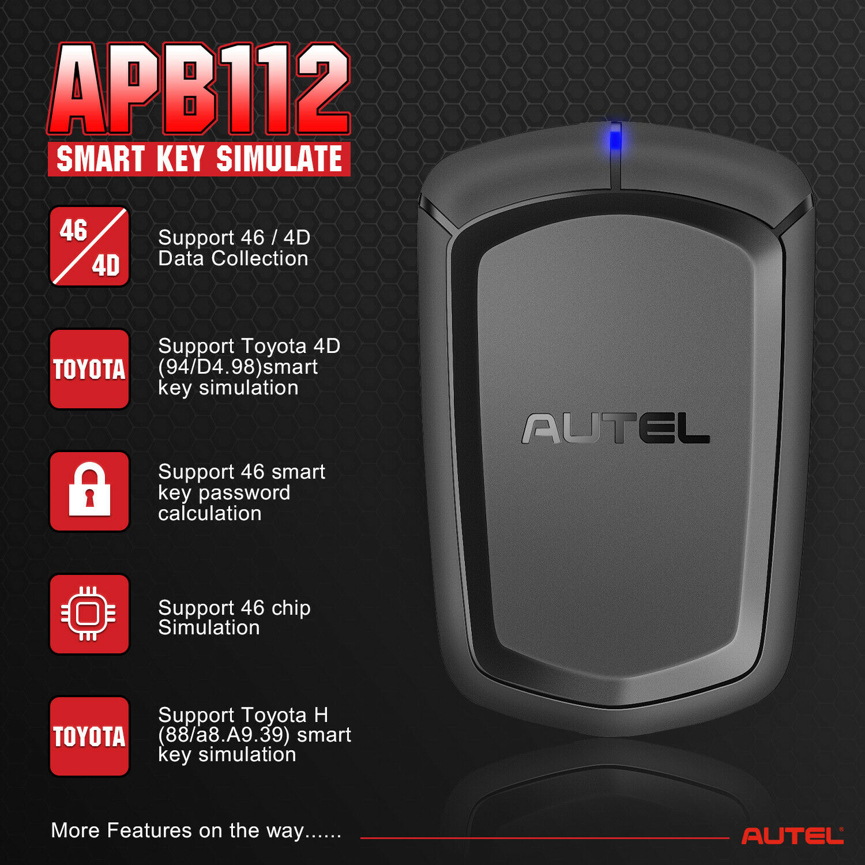 Autel APB112 Smart Key Simulate 46/4D Emulator Car Chip Decoding for IM608 IM508|Auto Key Programmers| - AliExpress