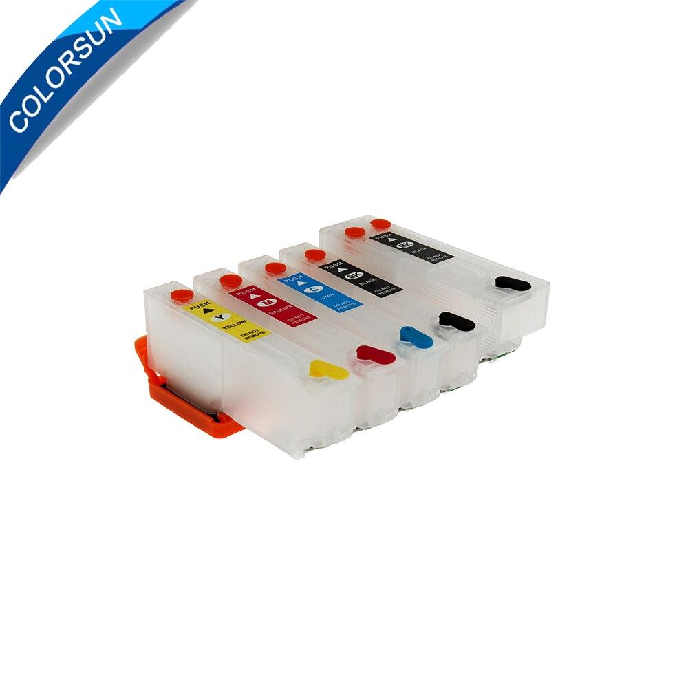 Colorsun Refillable T3351 33XL Ink Cartridges For XP-530 XP-630 XP-830 XP-635 XP-540 XP-640 XP-645 XP-900 Printer T33XL Cartrige