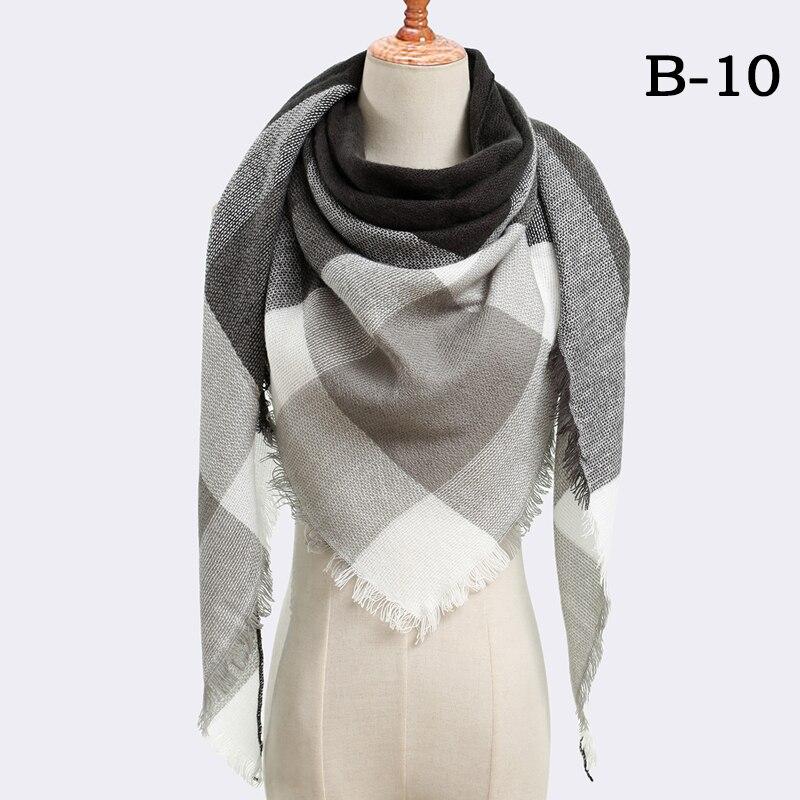 Женский зимний шарф в ретро стиле, кашемировые вязаные пашмины шали, женские мягкие треугольные шарфы, бандана, теплое одеяло, новинка - Цвет: bb10