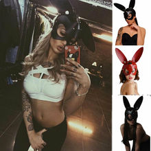 2019 Newest Fashion Cute Halloween Masquerade Long Ears Rabbit Half Mask Bondage Hot Sale Party Cosplay Decor