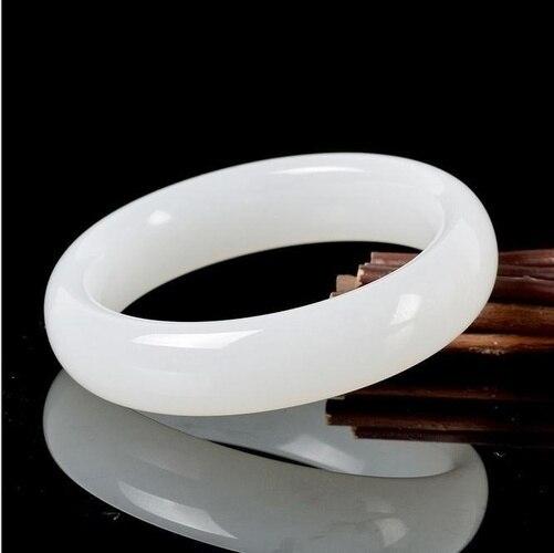 Натуральный белый нефрит украшение, очаровательный браслет ювелирные изделия аксессуары ручной резной Лаки амулет подарки для Для женщин ее Для мужчин