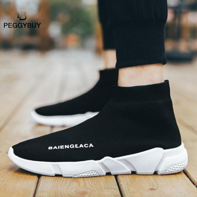 Fashion Sneakers Women Trainers Casual Slip On Socks Shoes Summer Women Vulcanized Shoe Sport Students Girl Ankle Boots Shoes 5