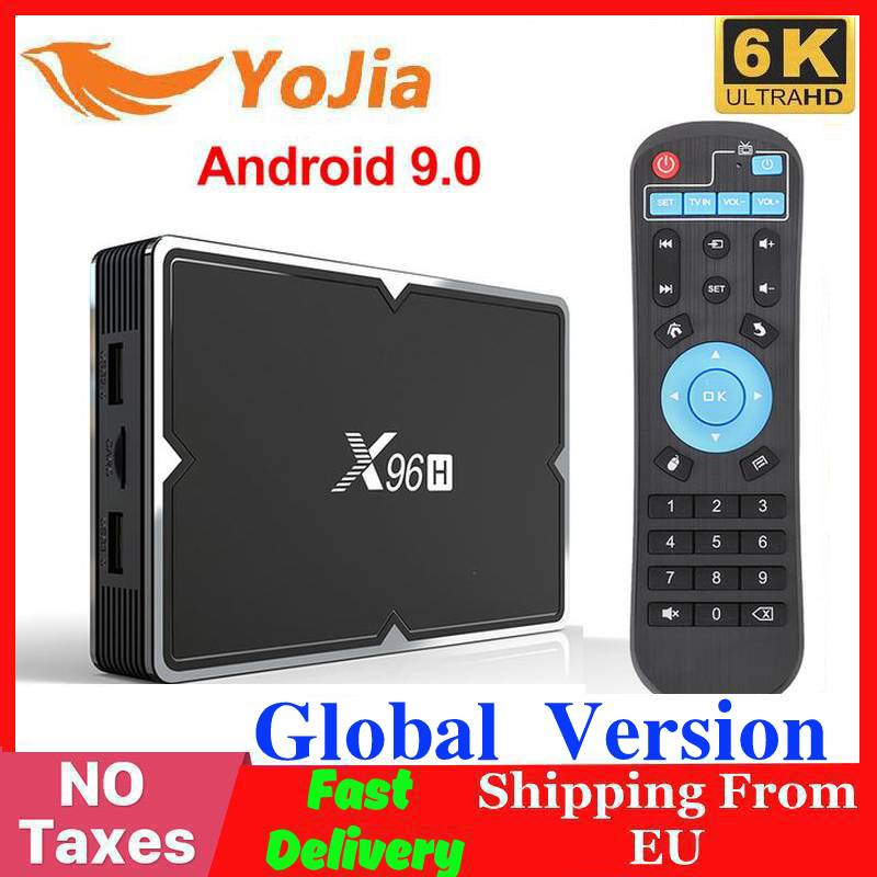 2020 X96 Mini 6K Smart TV BOX Android 9.0 X96H 4GB RAM 64GB ROM Media Player Allwinner H603 Netflix Youtube 2G/16G Set Top Box