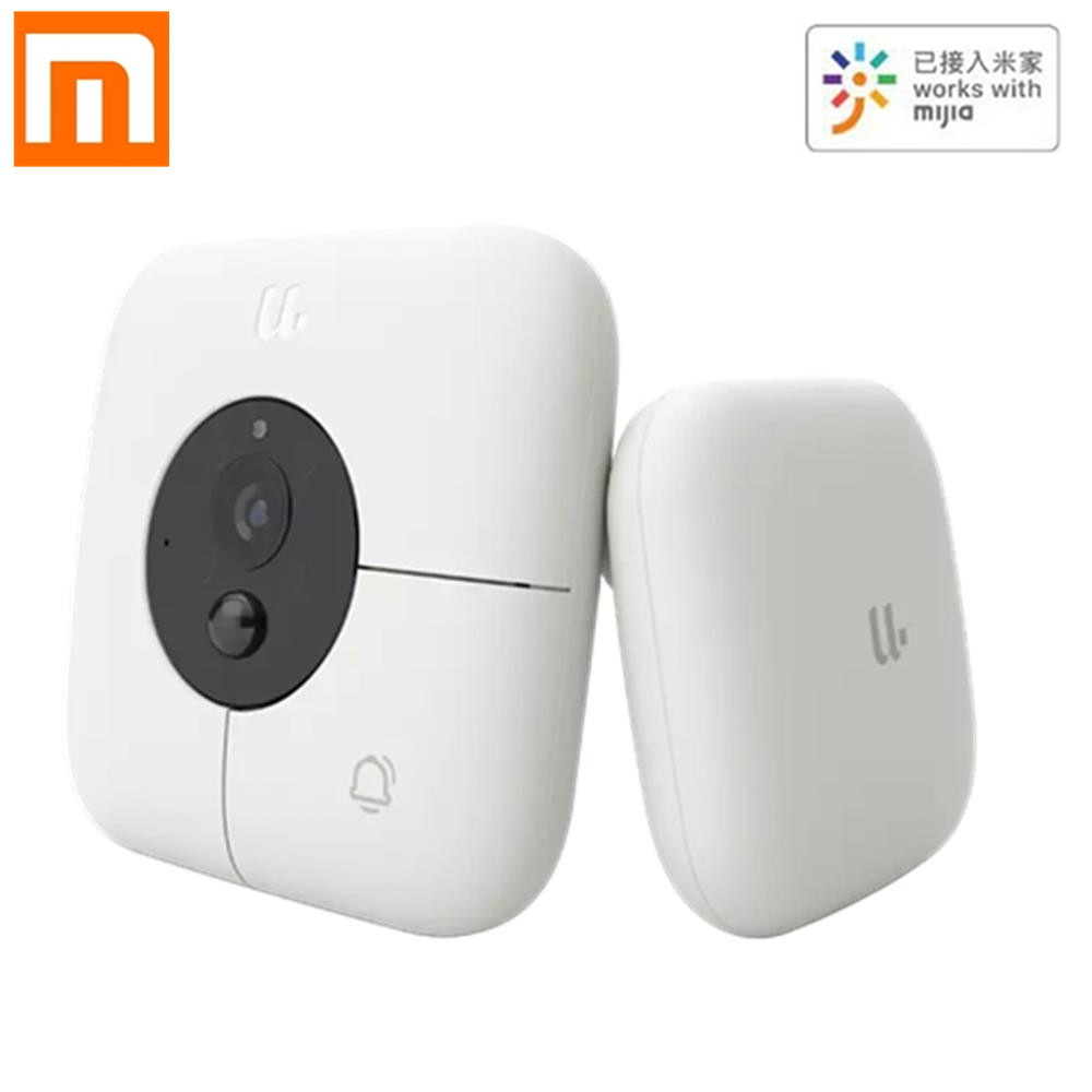 New Xiaomi Youdian Smart Doorbell AI Face Identification HD 1080P IR Night Vision Video Doorbell Set Motion Detection SMS Push