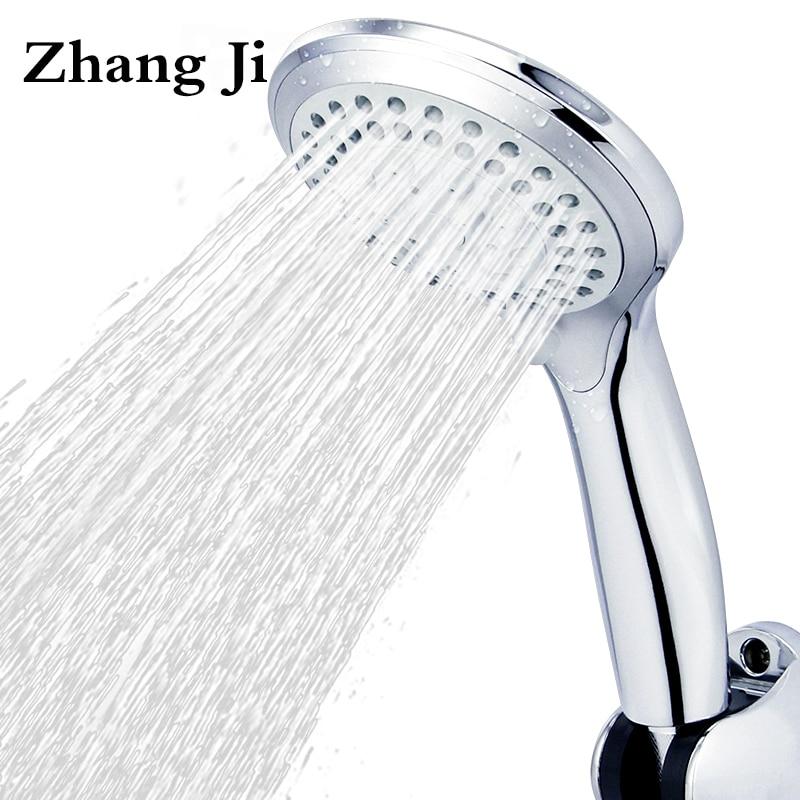 5 modes ABS plastic Bathroom shower head big panel round Chrome rain head Water saver Classic design G1/2 rain showerhead ZJ039