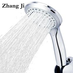 5 modos painel rodada chuva Cromo plástico ABS cabeça de chuveiro Do Banheiro grande cabeça poupança de Água design Clássico G1/2 chuva chuveiro ZJ039