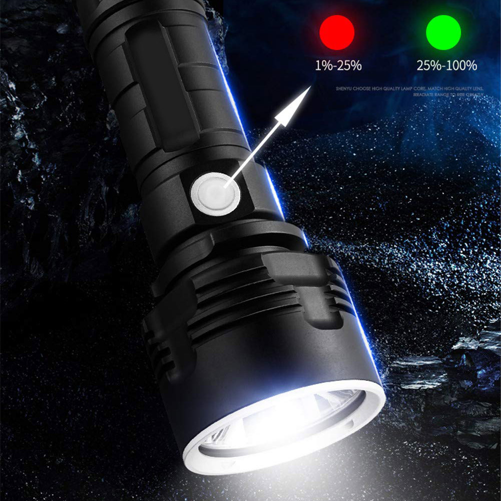 Best Chance for  LED Powerful Flashlight Rechargeable Super Bright Long-range High-power Outdoor Home Searchlight JT