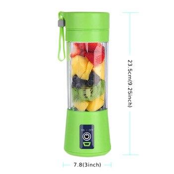 380ml Taşınabilir Sıkacağı Elektrikli USB şarj Edilebilir Iyi Blender Makinesi Karıştırıcı Mini Meyve Suyu Fincanı Makinesi Mutfak Robotu