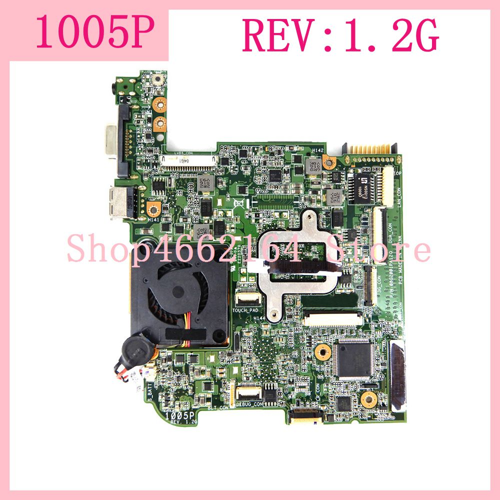 1005P REV:1.2G Motherboard For ASUS Eee PC 1005P Laptop motherboard 1005P Mainboard Tested Working fully tested free shipping