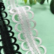 Water soluble Embroidery White black flower lace fabric trim ribbon DIY sewing applique collar craft guipure dress decor 20cm wide new colorful embroidery flower lace collar fabric sewing applique diy ribbon trim wedding dress guipure new year decor