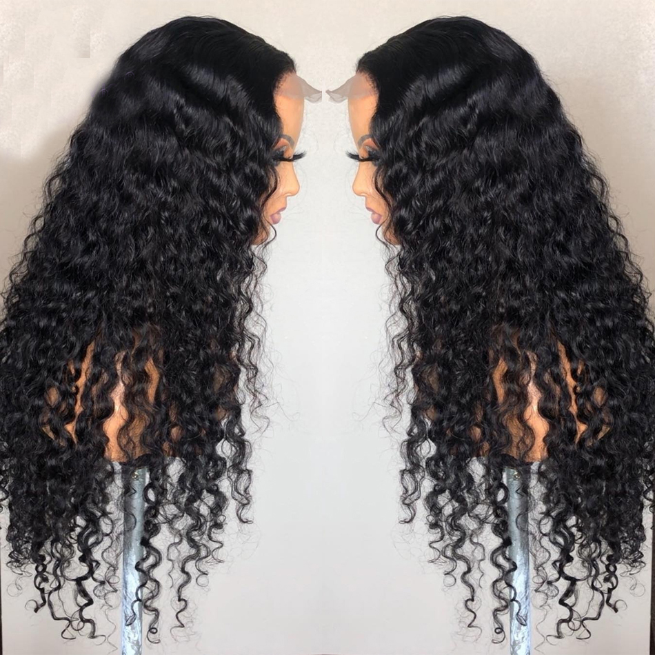 Eversilky 4x4 Silk Top Wig Lace Front  Wigs With Baby Hair Pre Plucked  Long Curly Human Hair Wigs Peruvian Remy Hair For Women