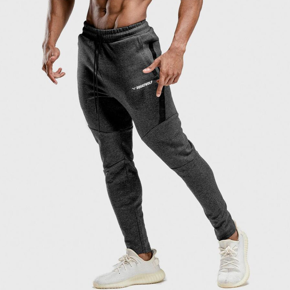 New Joggers Sweatpants Men Casual Skinny Pants Gyms Fitness Workout Tracksuit Sportswear Trousers Autumn Male Cotton Track Pants