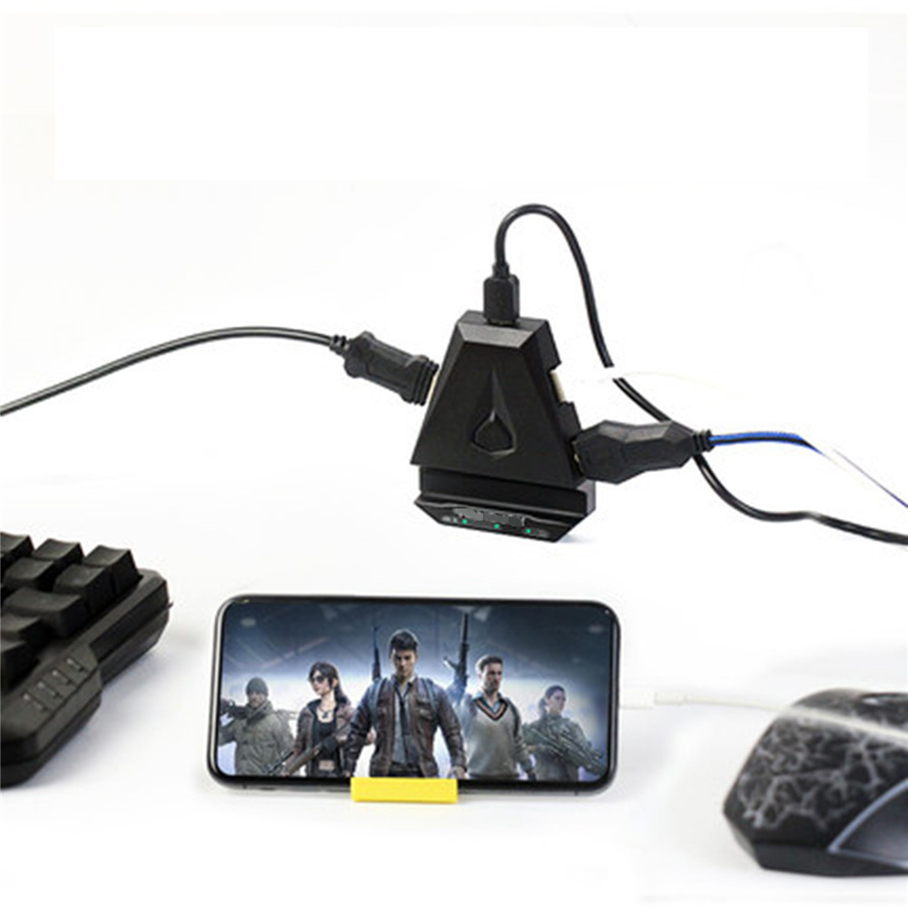 HandJoy Keyboard Mouse Converter PUBG Game Controller Adapter Plug And Play For IOS 9 Above Version