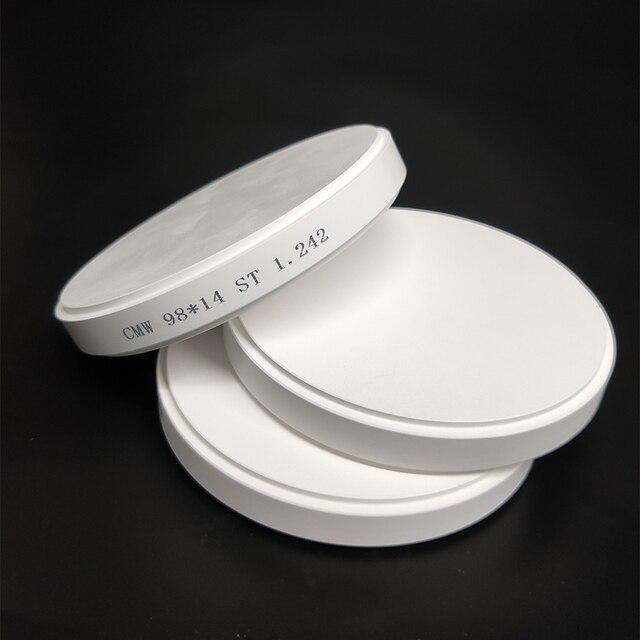 1 Piece HT ST Zirconia Block Dental CAD CAM Open Weiland System Ceramic Zirconia Block 98mm*10/12/14/16/18/20/25mm