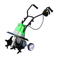 HHET 001 다기능 전기 로타리 경운기 리퍼 마이크로 틸라 기 기계 잡초 느슨한 토양 기계 재배 된 토지 scarifier|수동 탄산수 제조기|도구 -