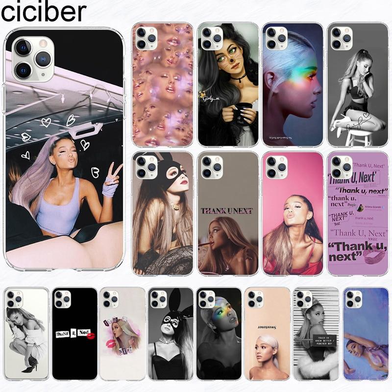 ciciber phone Case For iPhone 11 Case Cover for Iphone XR 11 Pro XS Max 7 X 8 6 6S Plus 5S SE Ariana Grande Silicone Coque Funda