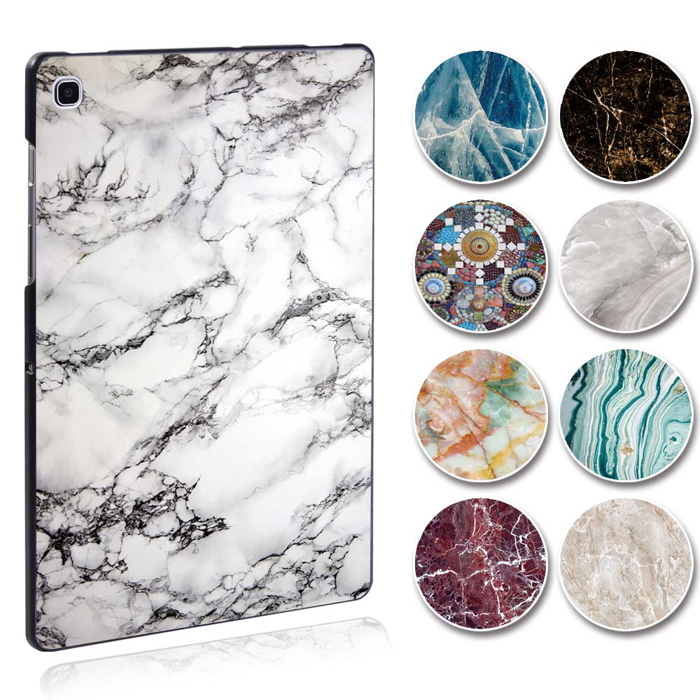 KK&LL For Samsung Galaxy Tab S5e T720 T725 SM-T720 SM-T725 10.5 Inch -  Tablet PC Plastic Marble Pattern Slim Stand Case Cover