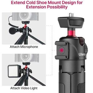 Image 5 - Ulanzi MT 16 wysuwany Mini statyw z zimnym butem do mikrofonu LED Light Selfie Stick kamera internetowa statyw do iPhone DSLR Sony Gopro Vlog