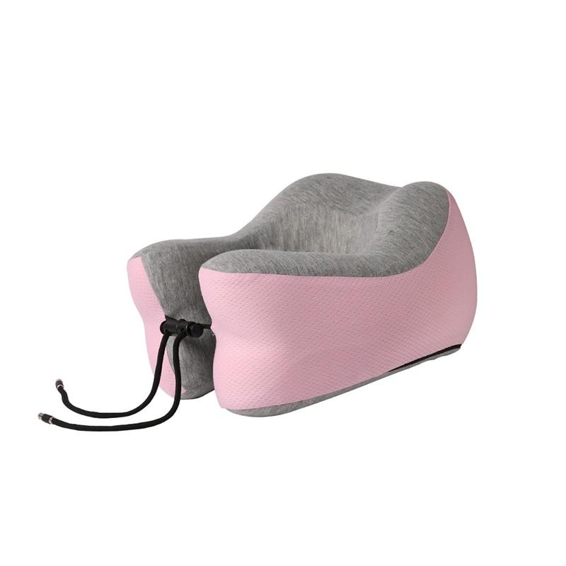 Подушка для путешествий Memory Foam Шейная подушка для шеи для самолета автомобильные офисные подушки u-образная Подушка подбородник для головы