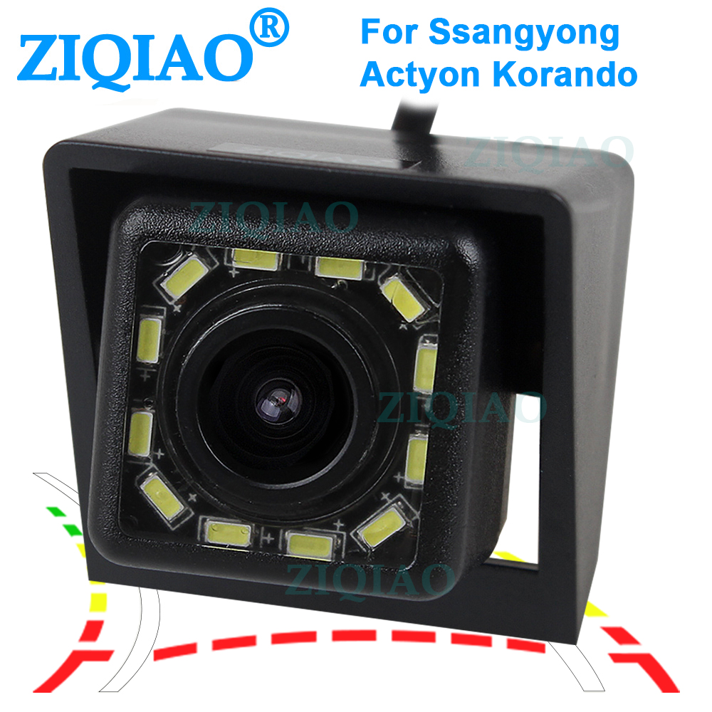 ZIQIAO for Ssangyong Actyon Korando 2010 2011 2012 2013 2014 2015 Dynamic Trajectory Tracks Rear View Reverse Camera HS060D image