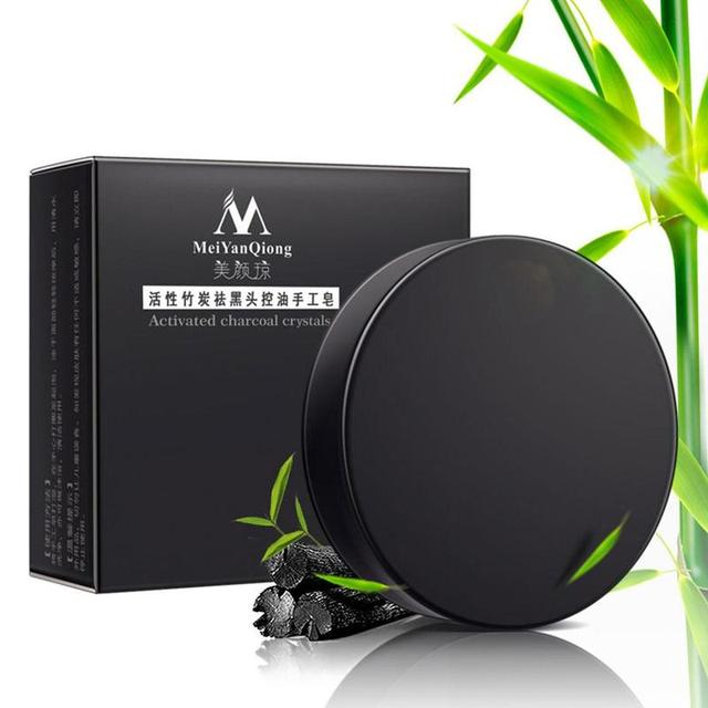 Natural Bamboo Charcoal Soap Clean Whitening Soap Blackhead Remover Acne Treatment Oil Control Soaps Skin Care Treatment 2