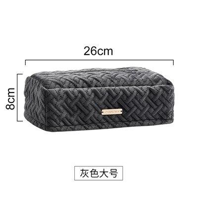 Креативное легкое роскошное постельное белье бархатная коробка прикроватный столик для гостиной Автомобильная бархатная ткань поплин коробка WF8081105 - Цвет: L Gray