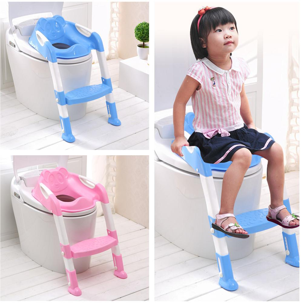 Kidlove Baby Stepped Foldable Baby Toilet Children Toilet Anti-slip Ladder