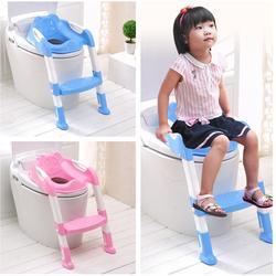 Kidlove Baby Stepped Foldable Baby Toilet Children Toilet Anti-slip Ladder