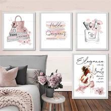 Модный постер кисти для макияжа красивая Настенная картина модные