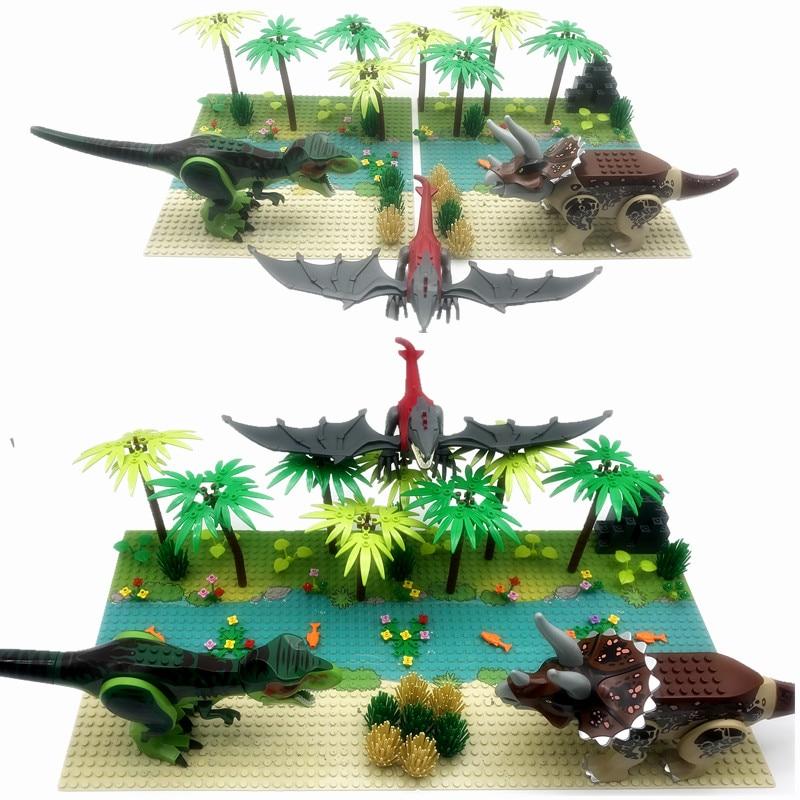 Tiptop Jurassic Park World for Kids Building Blocks Dinosaurs for Children MOC Plants Forest Bricks for Boys Xmas Birthday Gift Juguete