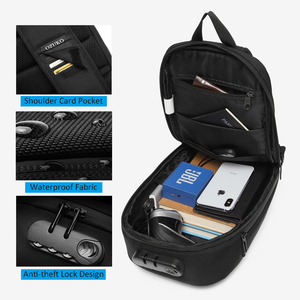 Image 3 - OZUKO الرجال حقيبة ساعي مكافحة سرقة مقاوم للماء USB إعادة شحن الكتف حقائب كروسبودي الصدر حزمة الذكور حقيبة رافعة لرحلة قصيرة