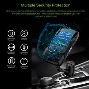 Image 3 - Chargeur de voiture sans fil Bluetooth Kit mains libres 350 rotatif voiture MP3 Audio 5V 2.1A double USB Charge couleur écran FM transmetteur