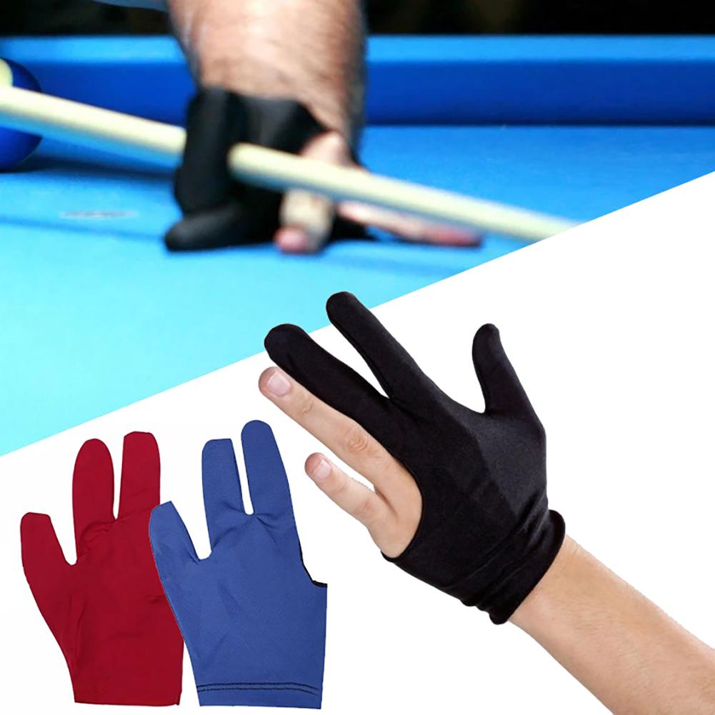 Left hand Snooker Billiard Glove Three Finger Pool Cue Sticks Blue and Black