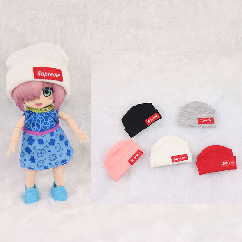Ob11 doll <font><b>clothes</b></font> accessories Molly GSC clay head <font><b>1/8</b></font> <font><b>BJD</b></font> doll can wear fashionable knitted hat multi color doll accessories image