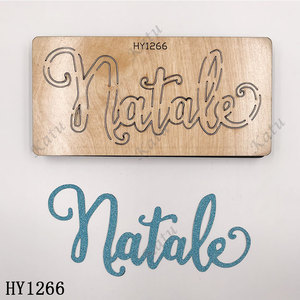 Image 5 - Merry Christmas Letter cutting dies 2019 new die cut &wooden dies Suitable  for common die cutting  machines on the market