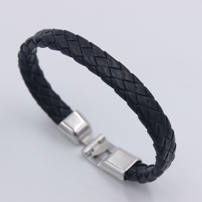 Cheap Hot Fashion Trendy Black Braid Bracelets Leather Jewelry Woven Soft Comfortable Vintage Men Women Bohemia Wholesale Gift
