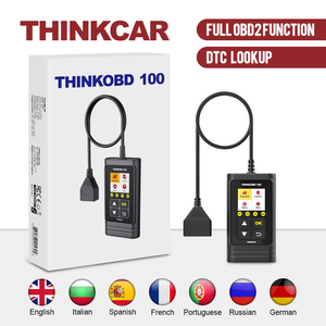 THINKCAR THINKOBD 100 All OBD2 Functions Car Scanner Diagnostic Tool DTC Lookup VIN Live Data Reset Engine Light Diagnostics