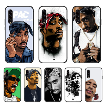 2Pac Makaveli Rap Phone case hull For Samsung Galaxy A 50 51 20 71 70 40 30 10 E 4G S black coque trend back 3D funda pretty image