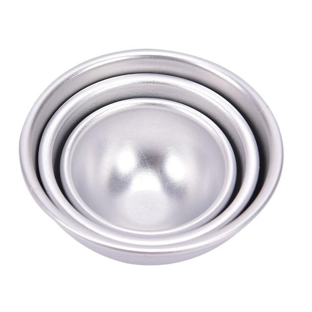 Creative Mold Bath Bombs Metal Aluminum Alloy Bath Bomb Mold 3D Ball Sphere Shape DIY Bathing Tool Accessories 3