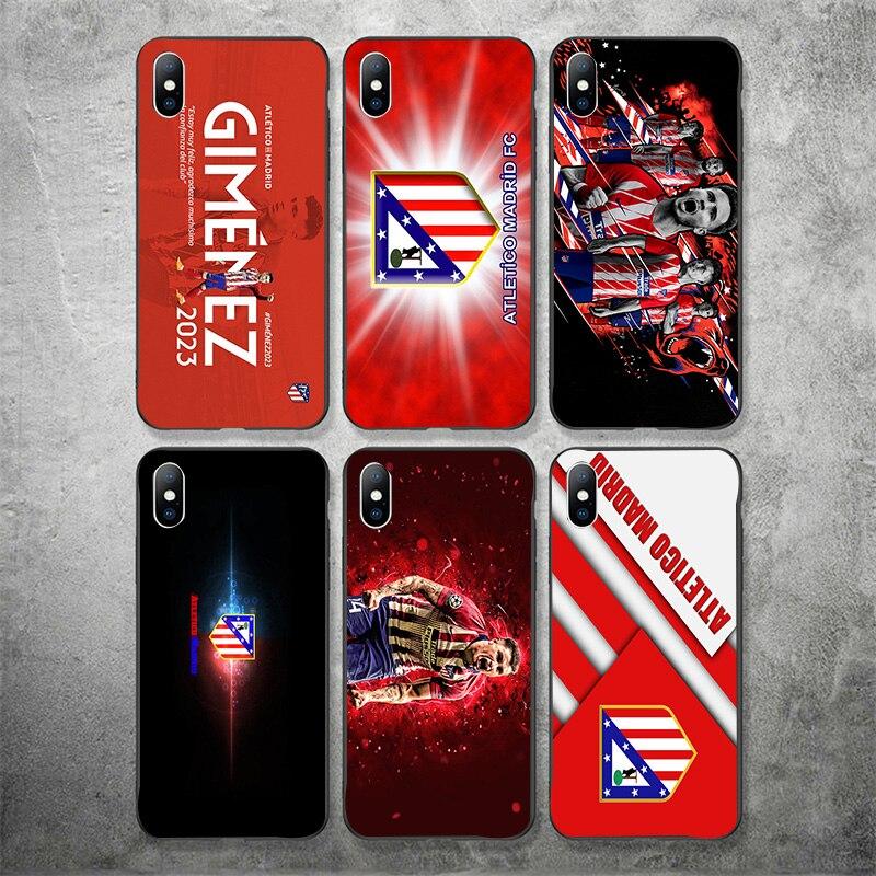 Phone Case Gimenez For iphone Case Atletico Madrid FC DIY Black Soft TPU Case For iPhone