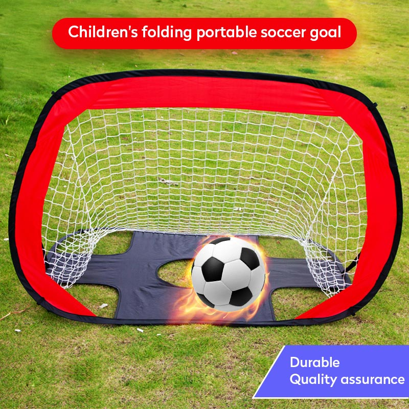 New Folding Soccer Football Goal Net Portable Black Training Goal Net Tent Kids Indoor Sports Play Toy Outdoor Soccer Door Set