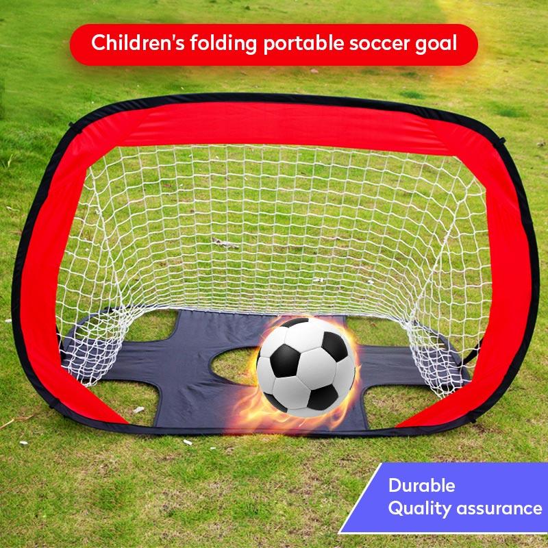 New Folding Soccer Football Goal Net Portable Black Training Goal Net Tent Kids Indoor Sports Play Toy Outdoor Soccer Door Set