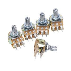 5Pcs 6Pin WH148 B 1K 2K 5K 10K 20K 50K 100K 200K 250K 500K Ohm Linear Dual Taper Rotary Potentiometer